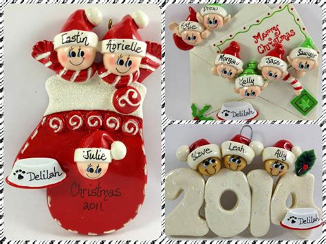 personalized family ornaments with pets ornaments for keeps personalized ornaments for the whole
