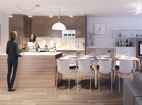 kitchen dinning table integrated dining table with kitchen island for modern