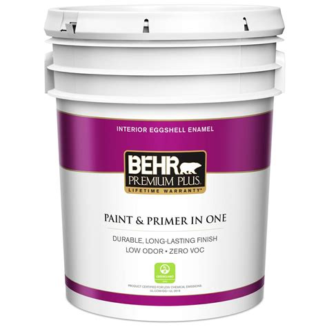 home depot paint eggshell finish behr premium plus 5 gal ultra white eggshell enamel