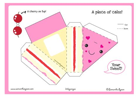kawaii paper crafts hsgeometryadventure paper craft s cake