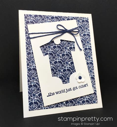 card ideas stin up baby s framelits baby card baby cards fish