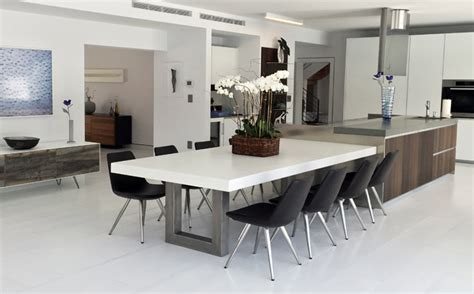 kitchen dinning table custom concrete kitchen dining tables trueform
