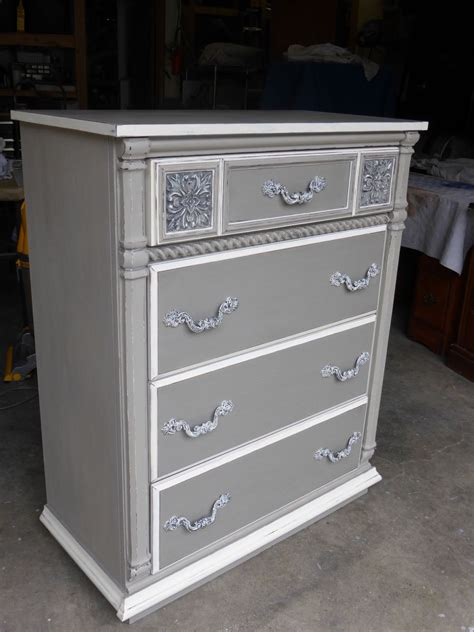 chalk paint grey dresser hometalk sophisticated grey painted dresser