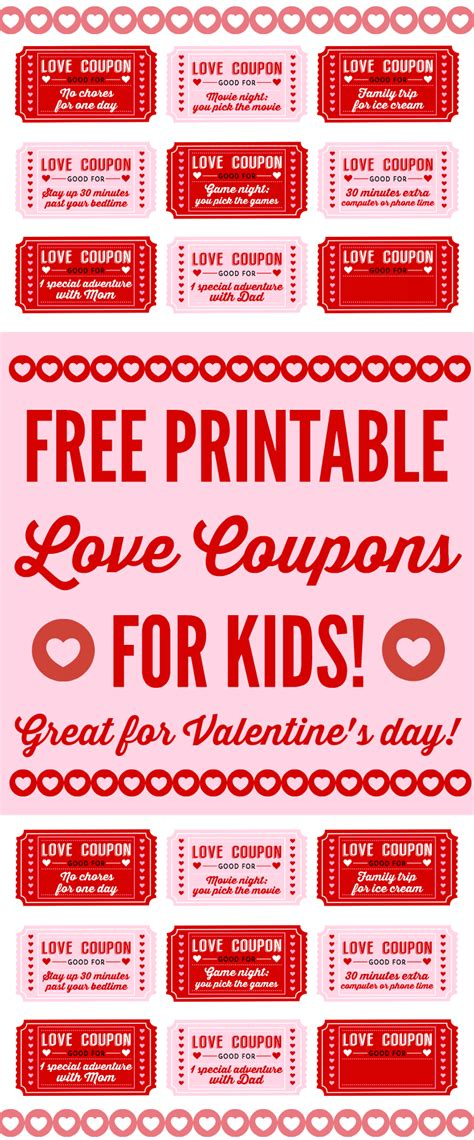 for valentines free printable coupons for on s day