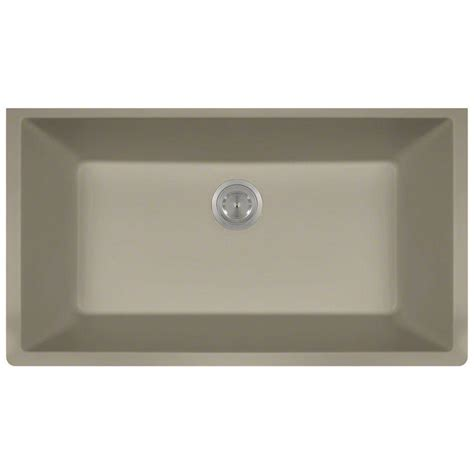 slate kitchen sink mr direct undermount composite 33 in single basin kitchen