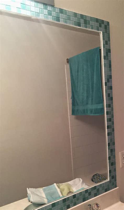 frame around bathroom mirror 25 best ideas about tile mirror on tile