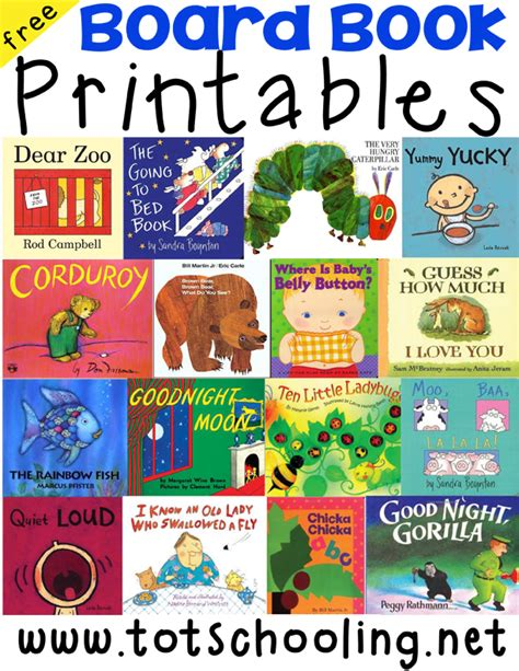 print picture books board book printables for toddlers