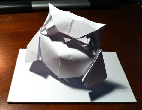 harry potter origami 177 hedwig setting the crease