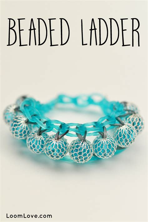 how to make a beaded ladder bracelet how to make a rainbow loom beaded ladder bracelet