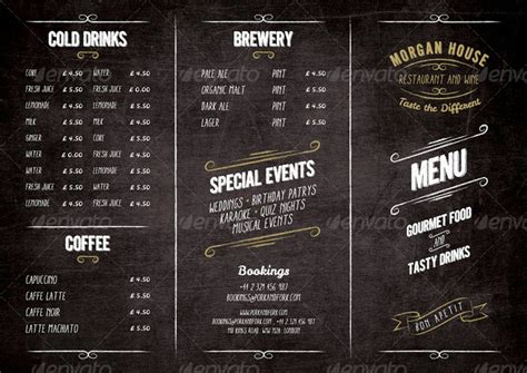 Blueprint Symbols food menu blackboard restaurant package by marnica