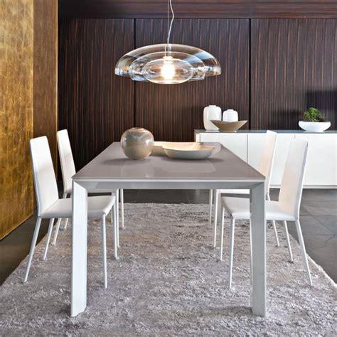 Table En Bois Blanc 4058 by Cs4058 Lv 160 Omnia Glass Table Calligaris En Bois Avec