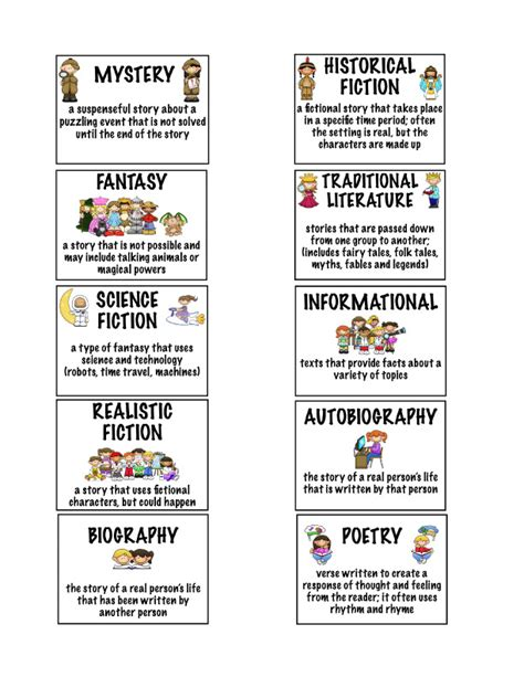 picture book genre literary genres worksheet abitlikethis