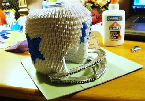 3d origami football 3d origami football helmet by sabrinayen on deviantart