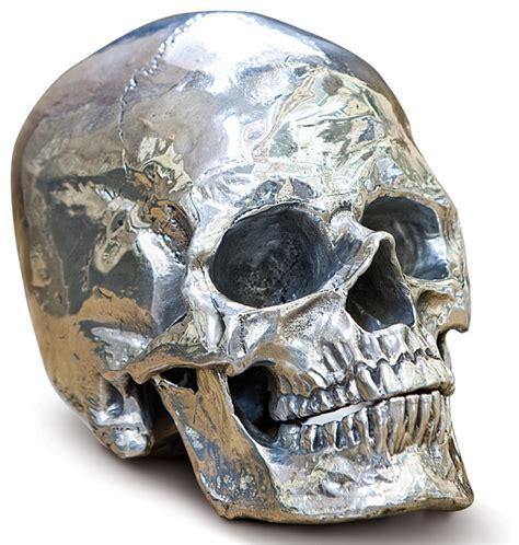 metal skull hamlet industrial loft polished nickel metal skull