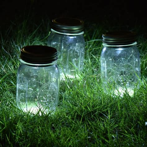 solar light on switch 3 pack solar jar led light magnet on switch wire