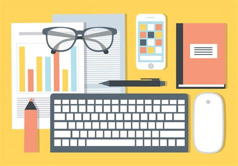 free office desks free office desk vector elements free vector