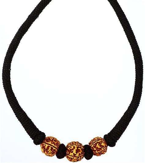 cord for jewelry rudraksha necklace with black cord