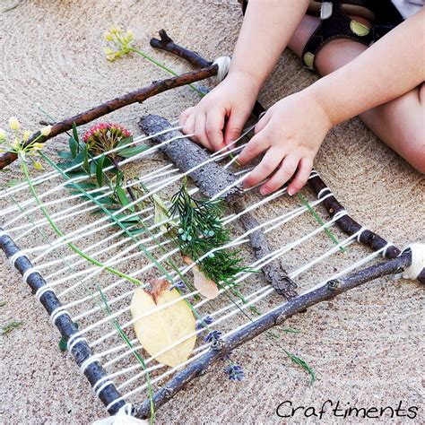 nature craft projects craftiments summer c nature weaving craft and