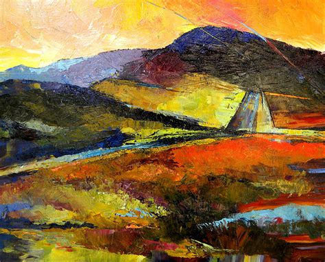 abstract landscape paintings abstract landscape ii painting by peggy wilson