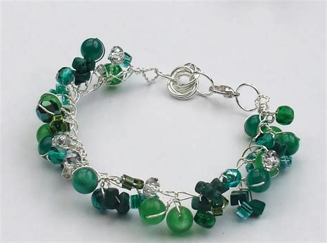how to make a beaded bracelet with wire twisted wire and bead bracelet allfreejewelrymaking
