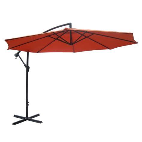 10 ft offset patio umbrella 10 ft wine aluminum patio offset umbrella 129 99