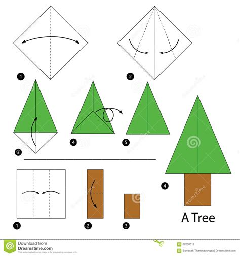 how to make a tree origami step by step how to make origami a tree