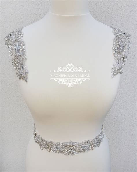 beaded epaulettes beaded shoulders luxury applique shoulder applique