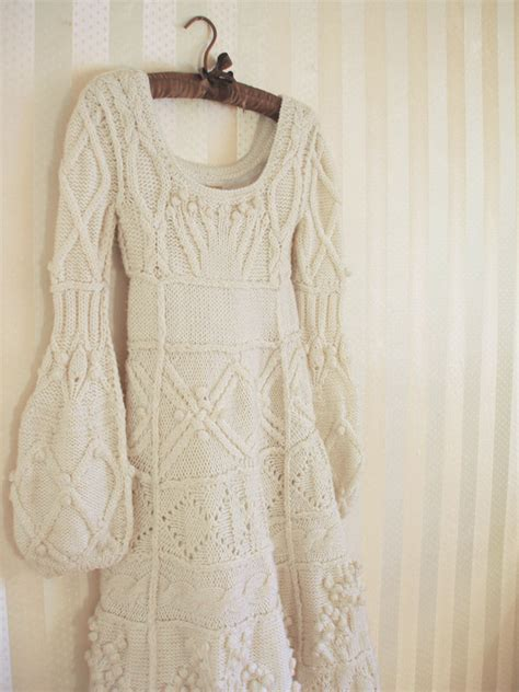 knit wedding dress a wedding a winter wedding