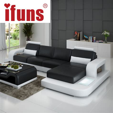 sofa less living room aliexpress buy ifuns unique leather sofa living room