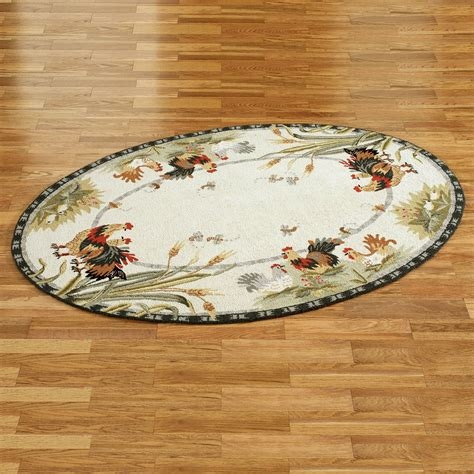 rooster rugs rooster and hens oval rugs