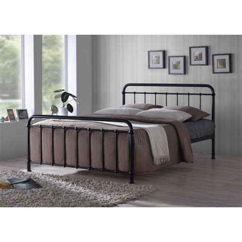 style metal bed frames miami traditional hospital style 4ft6 black metal
