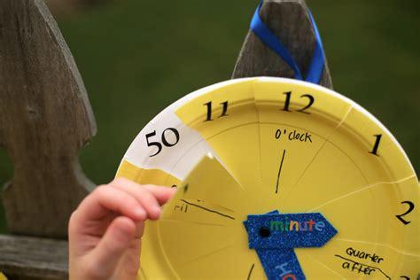 clock crafts for paper plate clock craft 183 kix cereal