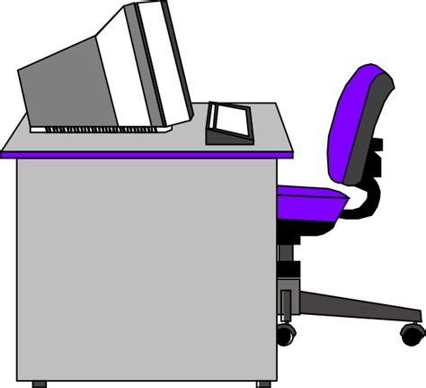 office desk clipart office desk clip at clker vector clip
