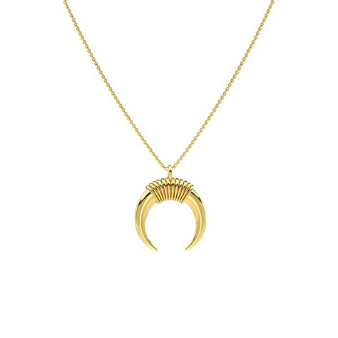 small necklace small gold horn necklace pascual jewelry more