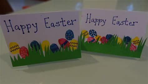 easter cards to make for children easter craft thumbprint easter egg gift cards there was