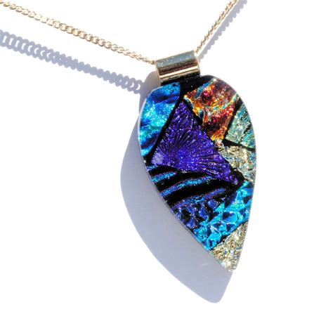 dichroic glass jewelry dichroic fused glass pendant dichroic glass pendant fused