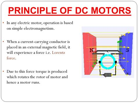 Principle Of Electric Motor dc motors t ppt