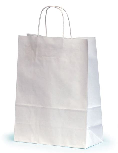white paper craft bags medium white paper gift bags with twisted handles 24 x 11