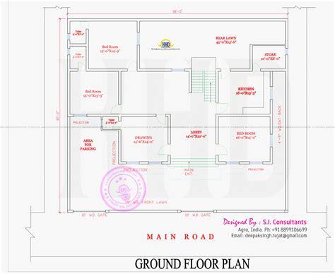 ground floor plan modern style india house plan home kerala plans