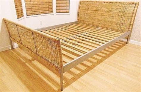 wicker bed frame ikea wicker bed frame size furniture in seattle
