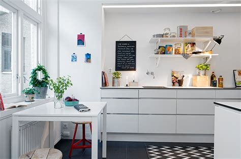 eat in kitchen decorating ideas swedish apartment boasts exciting mix of and new