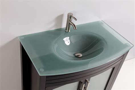 glass top bathroom vanities tempered glass top 36 quot single sink bathroom vanity