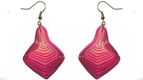paper craft earrings papercraft new model quilling papers earring paper