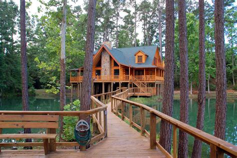 Big Cabin Rentals by The Retreat At Artesian Lakes Log Cabin Rentals On The