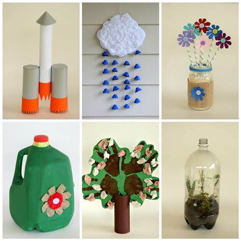 recycled craft projects earth day crafts from recyclables