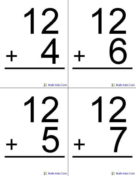 how to make math flash cards 6 best images of printable math digit cards free