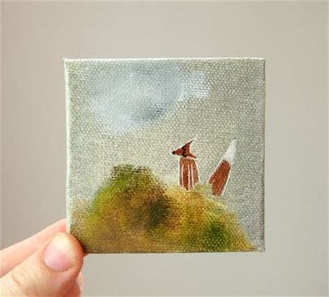 small acrylic painting ideas wilderness mini canvas paintings