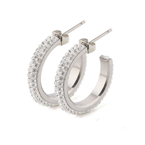 how to make metal sted jewelry free shipping stainless steel stud earrings make with cz