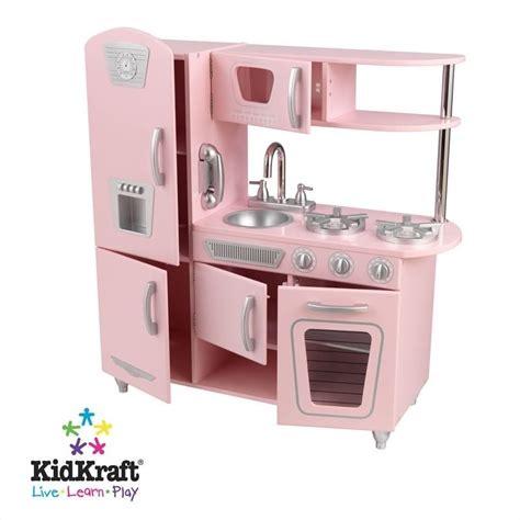 kid craft retro kitchen kidkraft vintage play kitchen in pink 53179