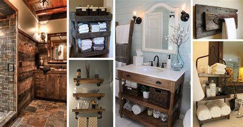 rustic decor ideas 31 best rustic bathroom design and decor ideas for 2017